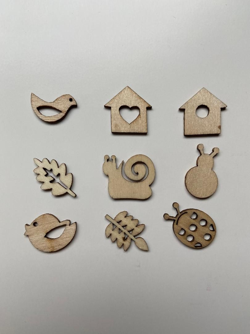 Autumn Garden Designs, 45 Wooden Shapes