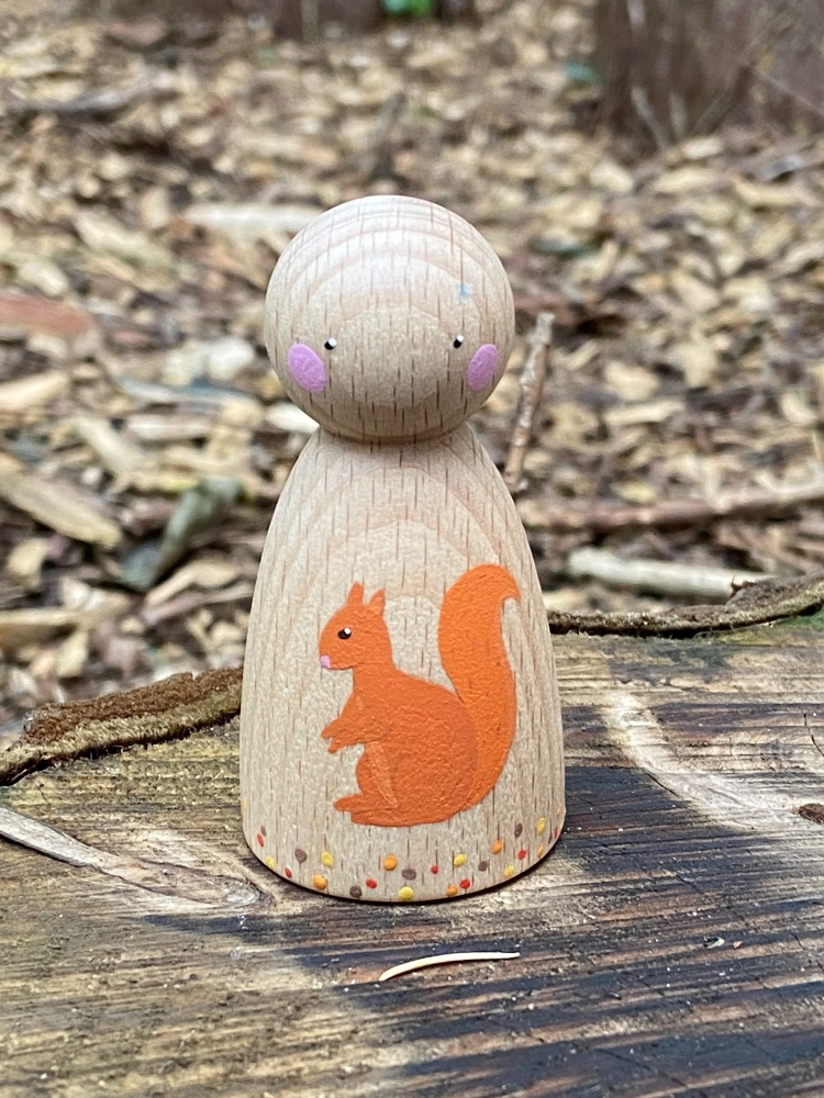 Peg Doll, Autumn Collection - Squirrel