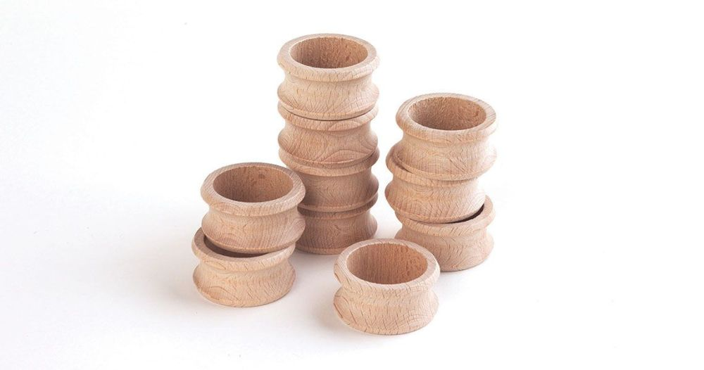 Beechwood Napkin Rings, Pack of 10
