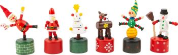 Dancing Christmas figurines