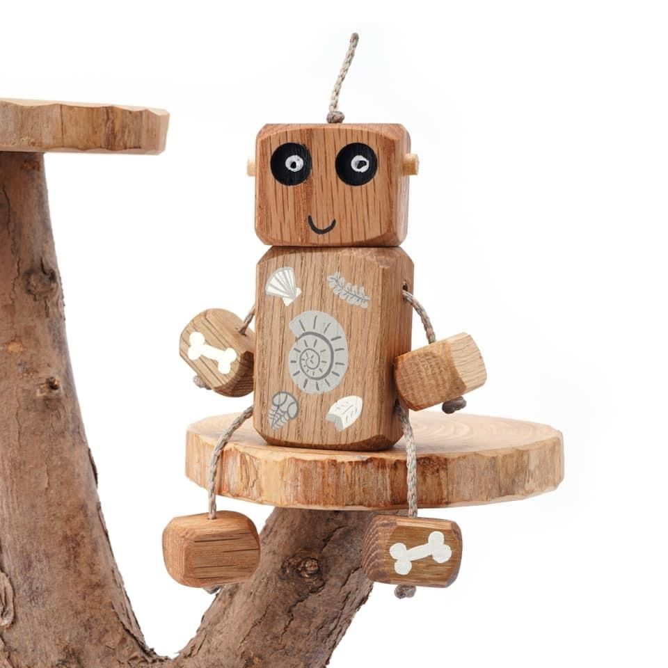 Ned the Robot - Fossil Ned -  Exclusive to The Wooden Play Den