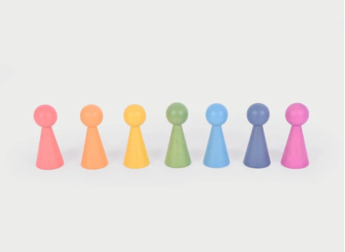 Rainbow Wooden Figures
