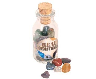 Gem Stones in a Bottle