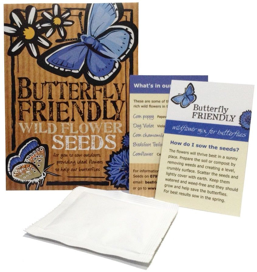 Butterfly friendly British wildflower seeds