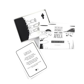 Black and White - African Animal Flashcards