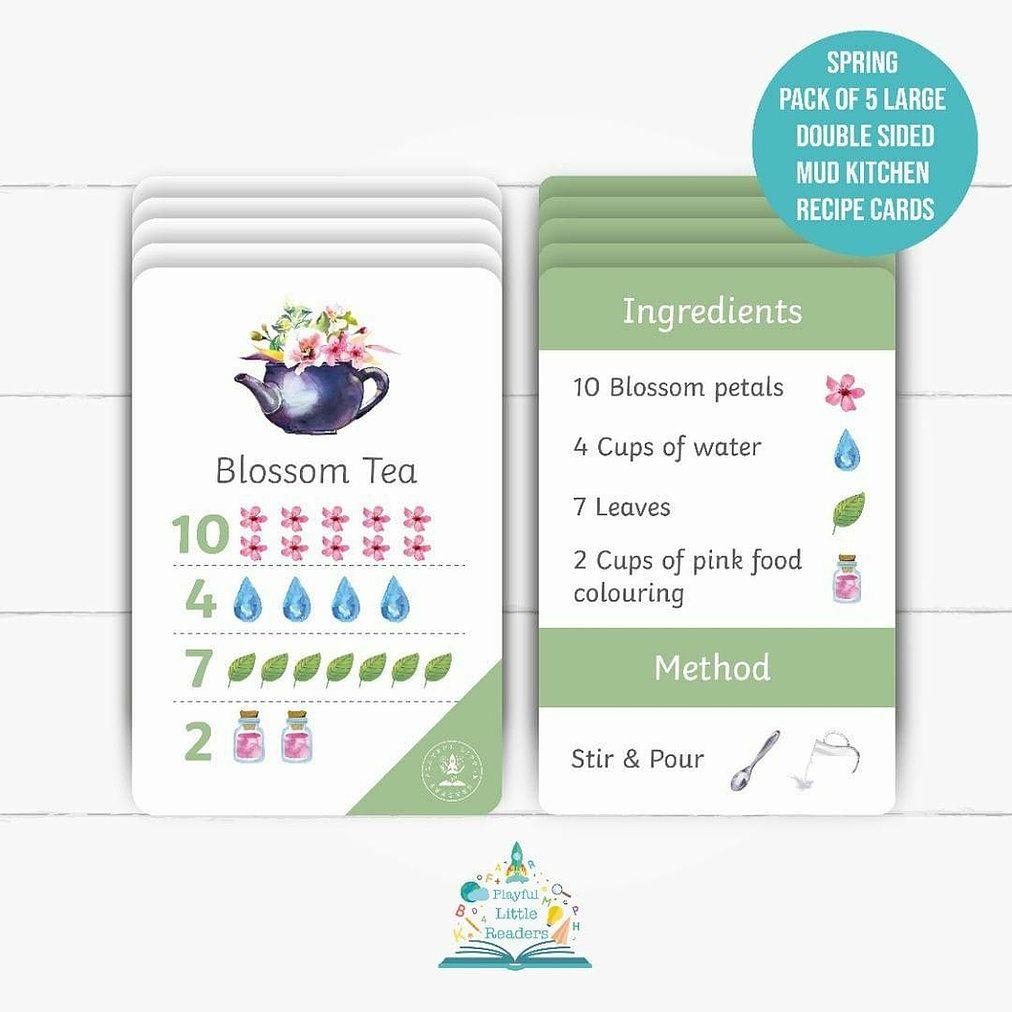 Mud Kitchen Recipe Cards - Spring