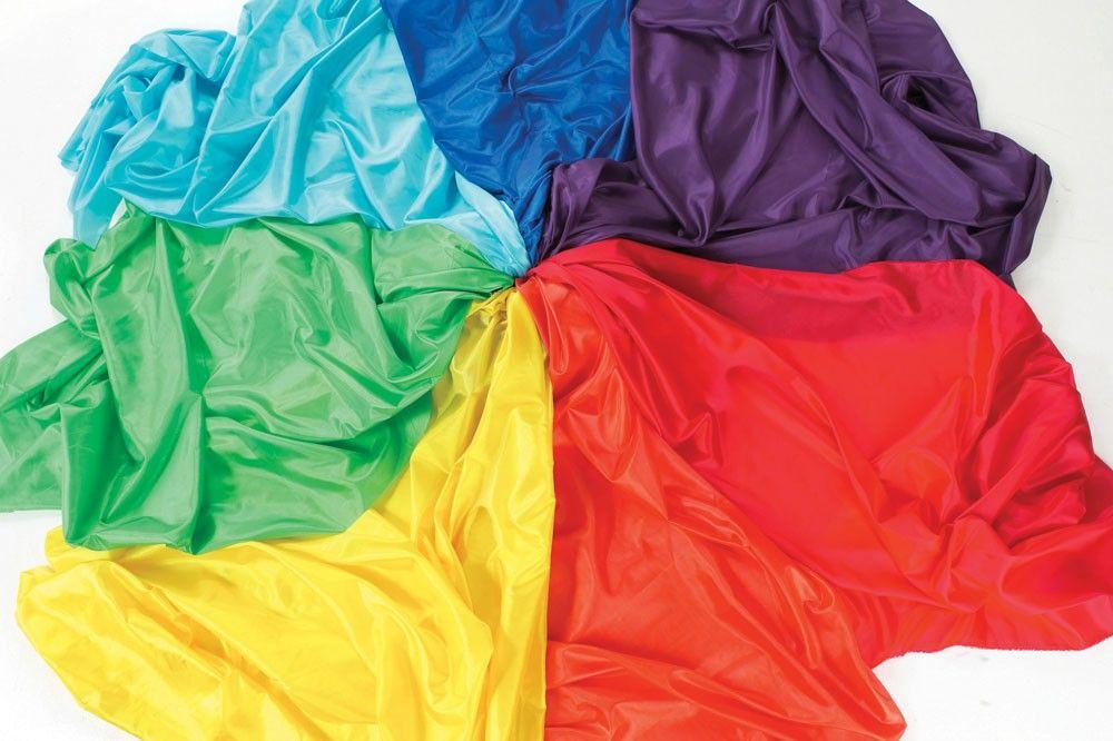 Rainbow Habutae Fabric