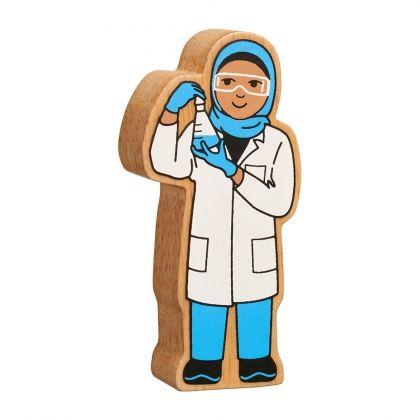 Lanka Kade - Figure, Natural blue & white scientist- NEW