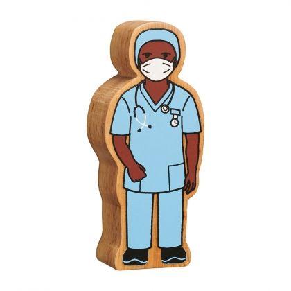 Lanka Kade - Figure, Natural blue nurse in scrubs - NEW