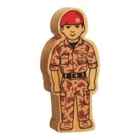 Lanka Kade - Figure, Natural brown army officer