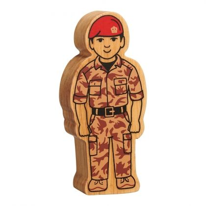 Lanka Kade - Figure, Natural brown army officer- NEW