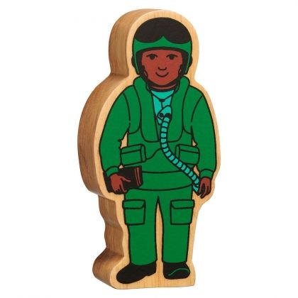 Lanka Kade - Figure, Natural green Air Force officer- NEW