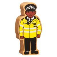 Lanka Kade - Figure, Natural yellow & black policeman