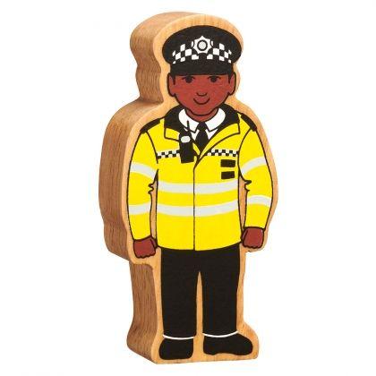 Lanka Kade - Figure, Natural yellow & black policeman - NEW