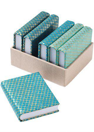Blue Pattern Paper Notebook