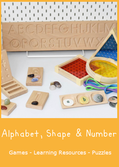 Alphabet, Numbers & Shapes
