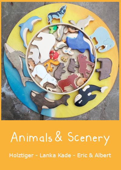 Wooden Animals, Figures & Scenery