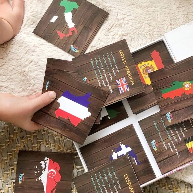 Educational Cards - Countries, Cities, Flags, Borders & More
