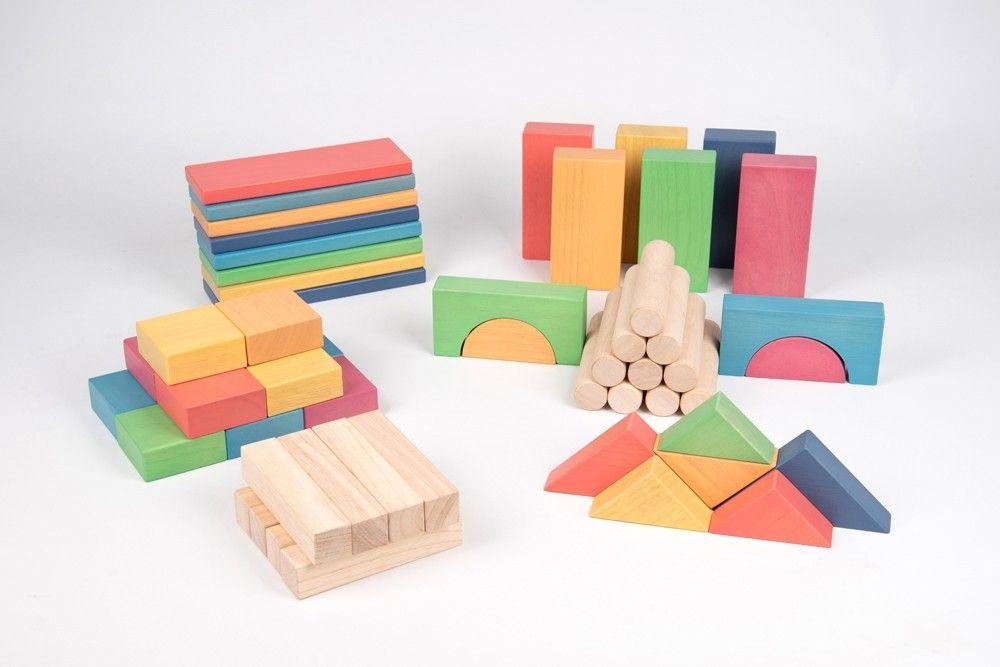 Rainbow Wooden Jumbo Block Set