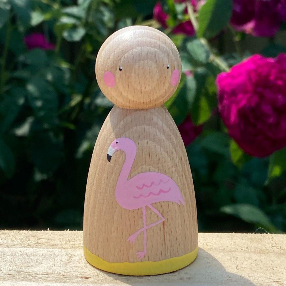 Peg Doll, Summer Collection - Flamingo
