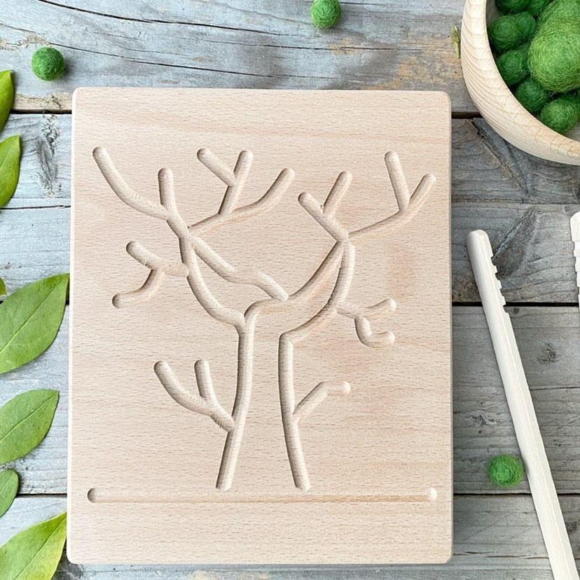 Double Sided Seasons Tree Sensory Board