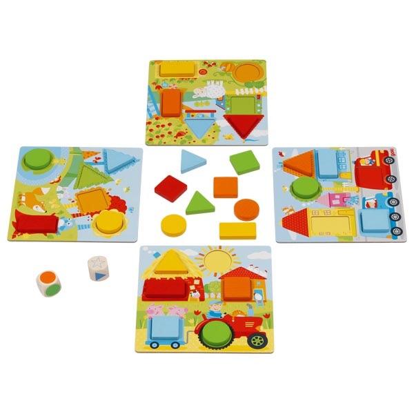 Colour Dice Game - Geometric Shapes