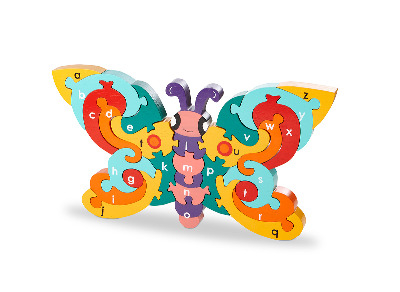 Alphabet Jigsaw  - Butterfly