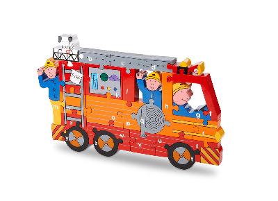Alphabet Jigsaw - Fire Engine