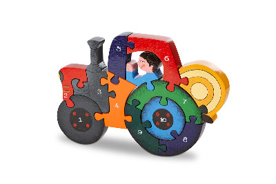 Number Jigsaw - Tractor