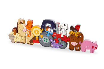 Number Jigsaw - Farm Animals 1-15