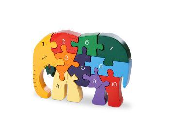 Number Jigsaw - Elephant