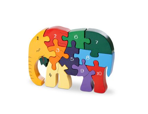 Number Puzzle - Elephant
