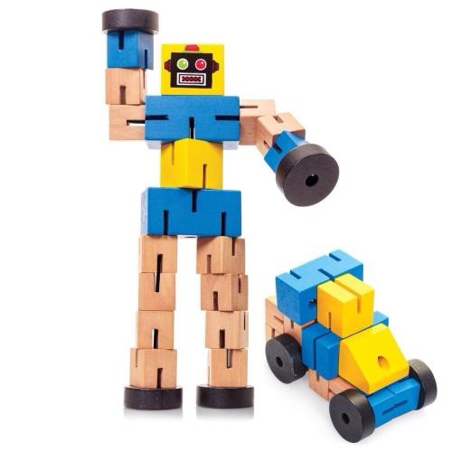 Wooden Transformbot - Blue