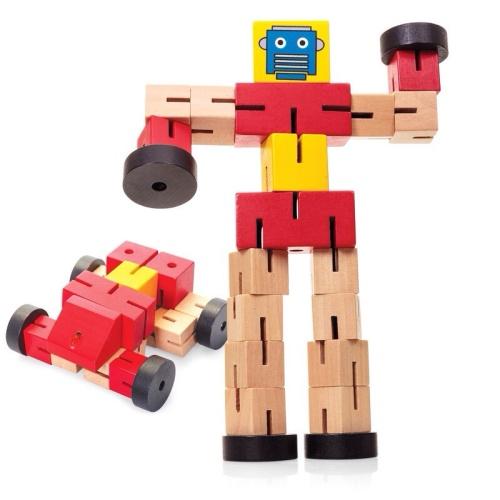 Wooden Transformbot - Red
