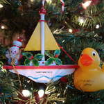 Duck enjoying Xmas in San Francisco