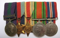 Pre war Palestine Medal group to 3311701 Pte J Dunsmore HLI