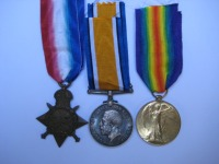 1914/15 Trio to 776 Pte C Colman 5 Conn Rangers / Gallipoli veteran