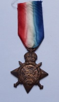 1914 star medal impressed to 2 LIEUT B.B.OWEN W YORK R