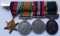 Territorial Efficiency Medal group to 389926 Cpl C W Brazier 4/5 Royal Scots / a casualty
