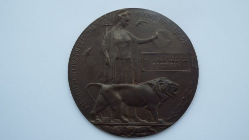 Memorial Plaque to 1534 Pte Edward George Rogerson Lothian and Borders Hors