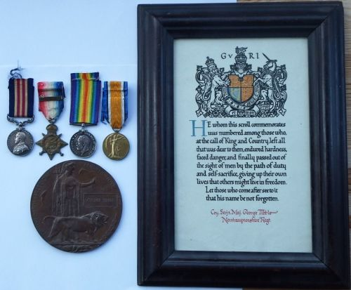 Military Medal 1914 Star bar Trio Plaque and Scroll to 8900 A W O Cl 2 G Ti