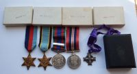 RCAF Memorial Cross grouping to R112455 SGT Air Gnr Arthur S Thomson / 101 Sqdrn / killed may 43