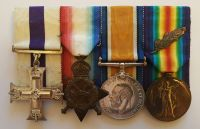 Military Cross 1914/15 Trio and Plaque to Second Lieutenant Tom Bowker 244th Company Machine Gun Corps