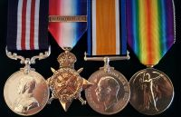 The outstanding Great War Western Front 'Bloody April' aerial combat Military Medal group awarded to Corporal Reginald Edmund Tollerfield, M.M., No. 1