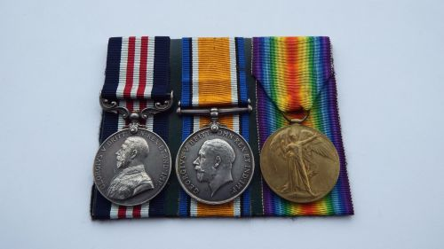 Military Medal pair to 24566 Pte L Cpl J Wood 13/ Lpool R / late 18 Bn Live