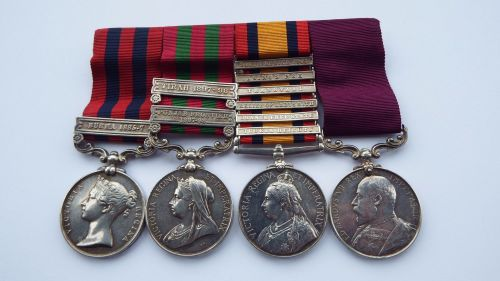 Victorian Campaign and LSGC grouping to 2535 Pte R Burton Dorset Regt