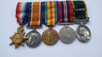 Territorial Efficiency Medal and bar group to 3646790 SJT H Moss  5 PW Vols