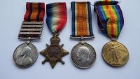 QSA and 1914/15 trio to 4741 Pte J J Martin 6 London R / Previously 67 Coy Imp Yeo / The Sharp Shooters