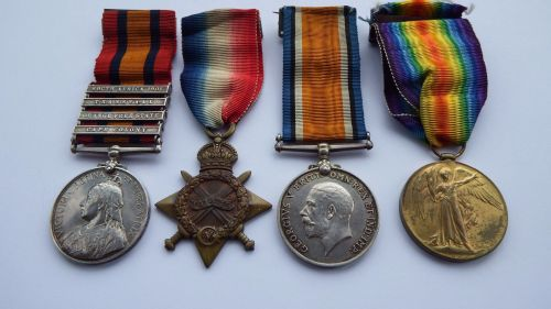 QSA and 1914/15 trio to 4741 Pte J J Martin 6 London R / Previously 67 Coy