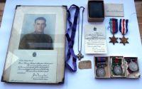 Emotive Second World War Canadian Memorial Cross grouping to B/22061 Gnr R M Robinson Royal Canadian Artillery